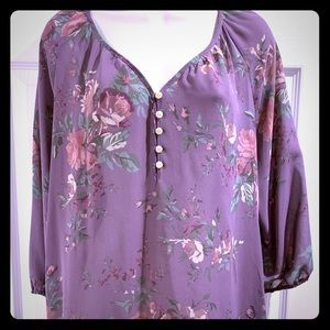 Beautiful sheer floral blouse by Chaps